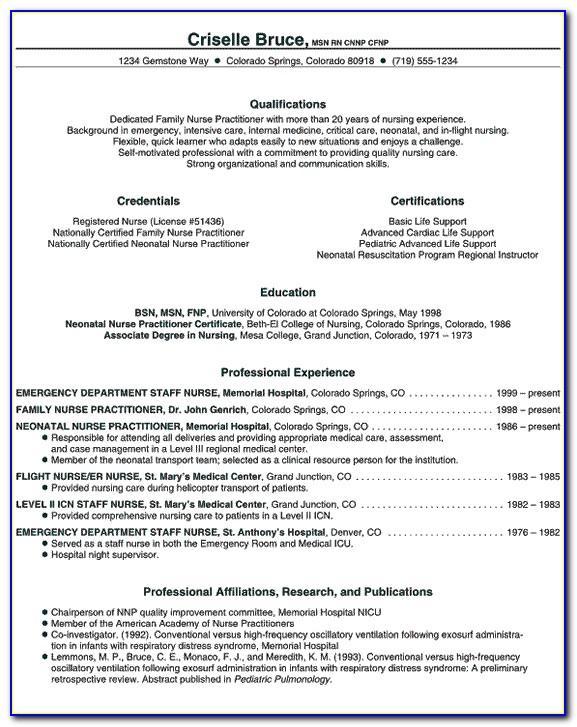 Nurse Practitioner Sample Resume Letter Of Interest