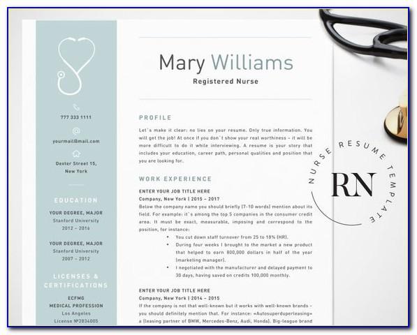 Nurse Resume Templates Word
