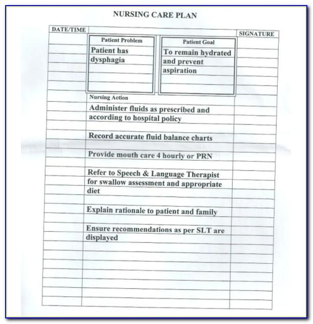 Nursing Care Plan Examples Mental Health