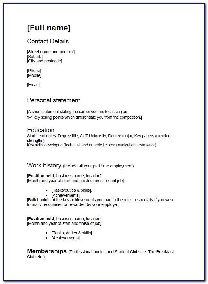 Nursing Cv Examples Australia