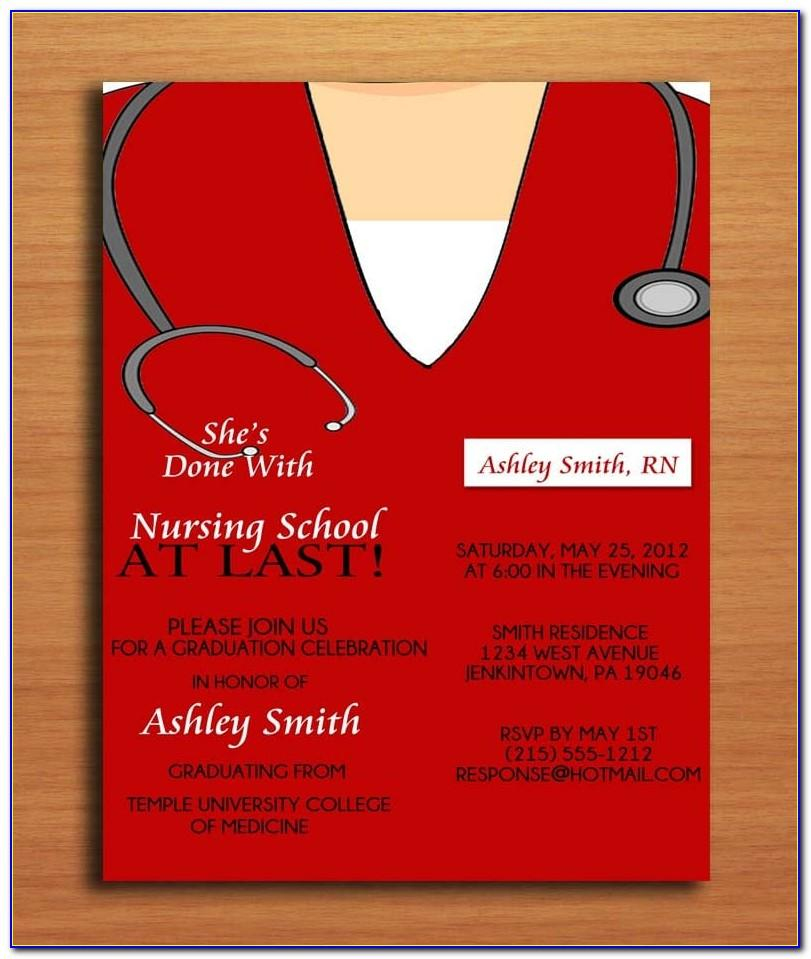 Nursing Graduation Announcements Templates