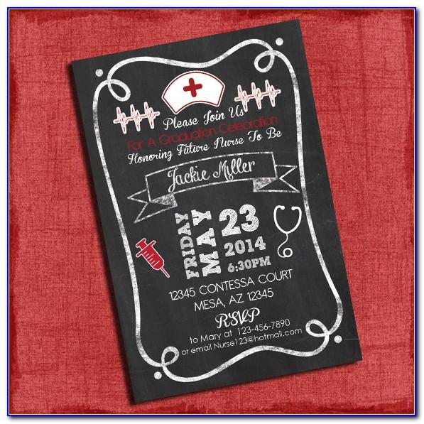 Nursing School Graduation Announcement Template