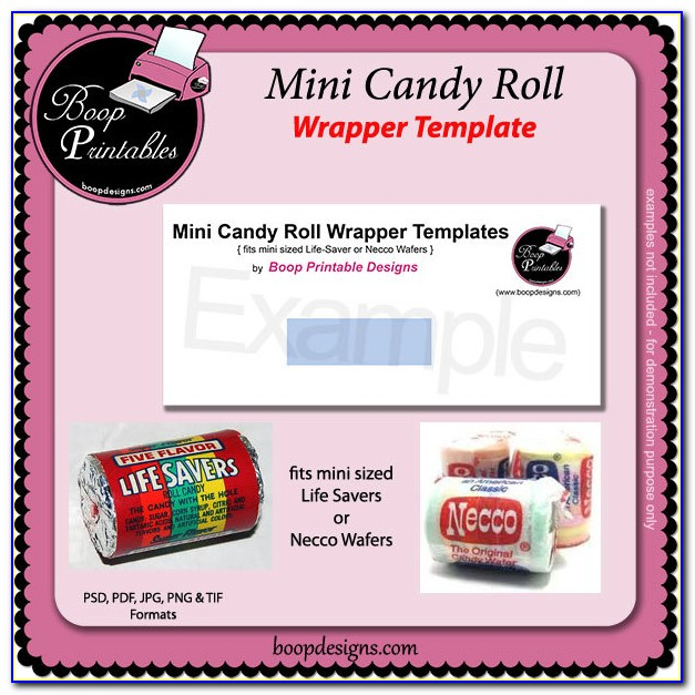 Printable Mini Candy Bar Wrapper Template