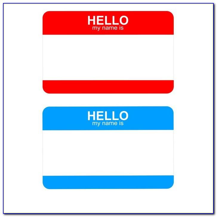 Student Name Tag Template Free Printable