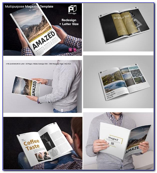 A5 Magazine Template Indesign Free