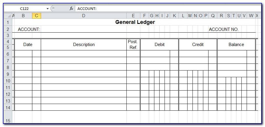 Accounting Ledger Book Template Free