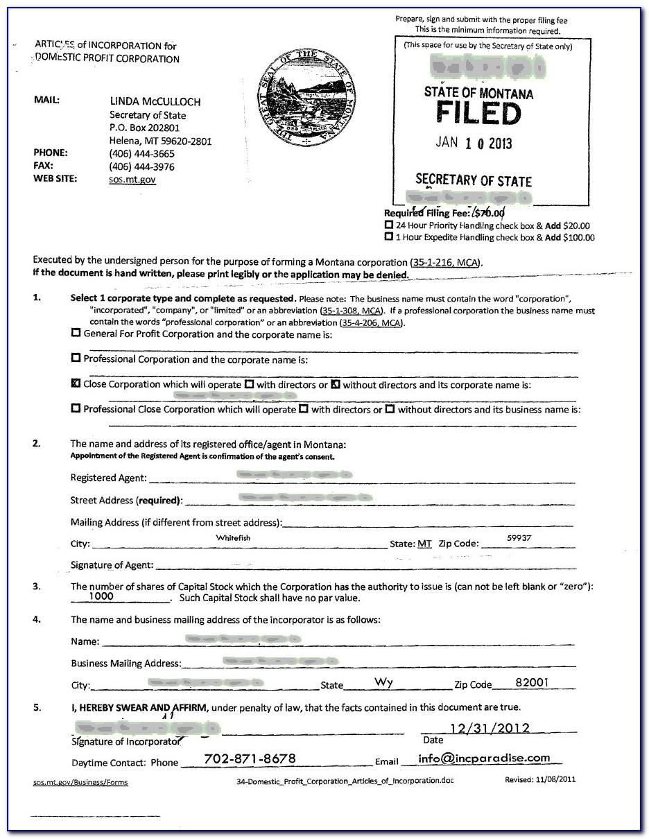 Articles Of Incorporation Llc Florida Sample