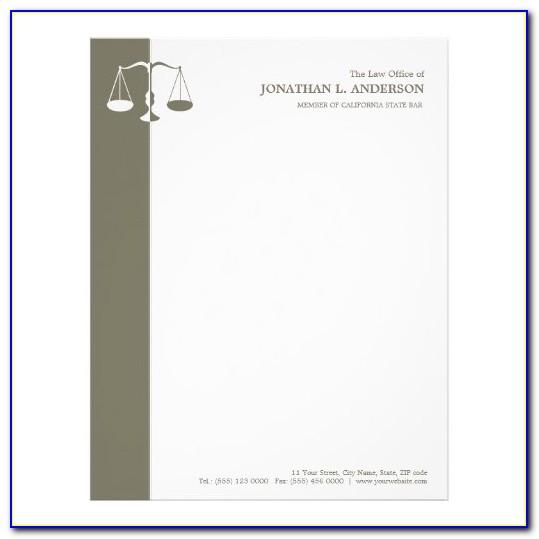 Attorney Letterhead Templates Free