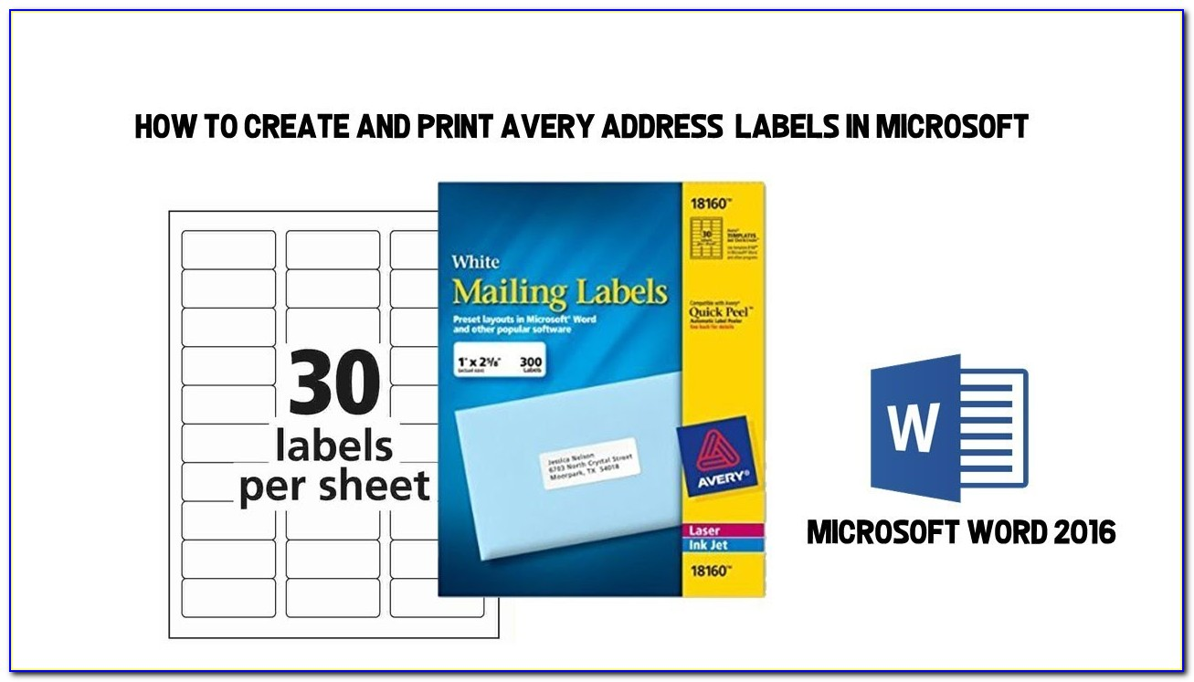 Avery Address Label Template Excel