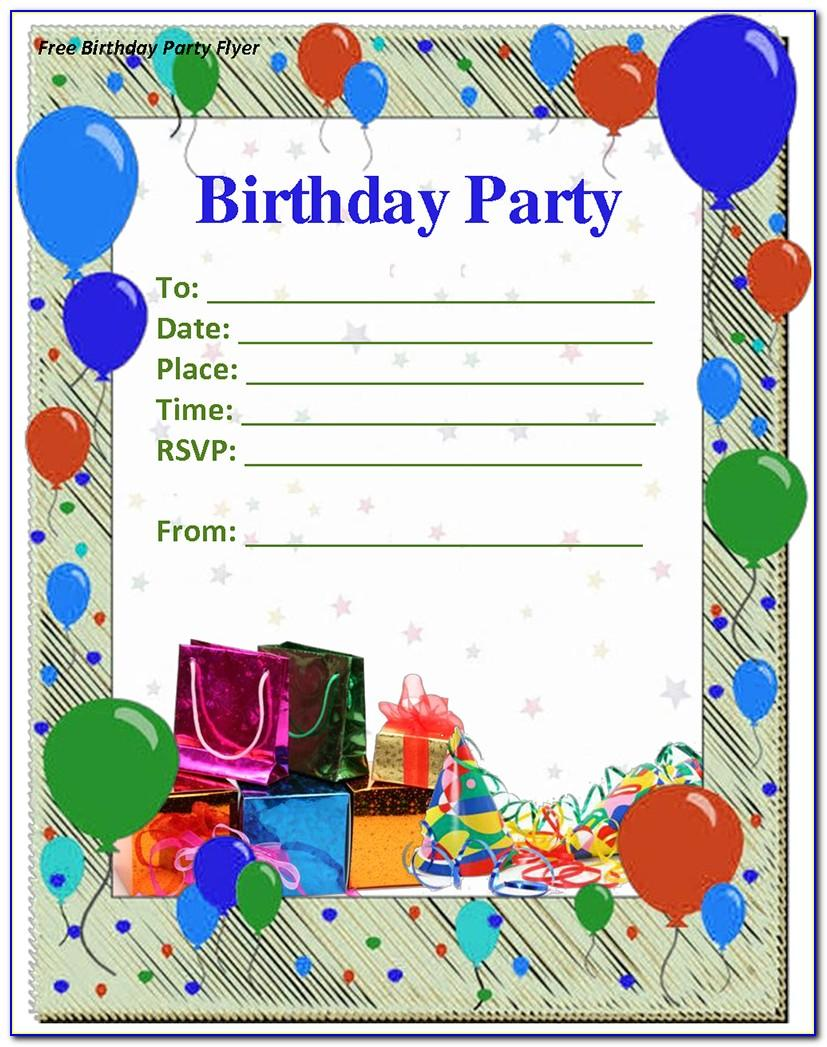 Birthday Invitation Template Free Download