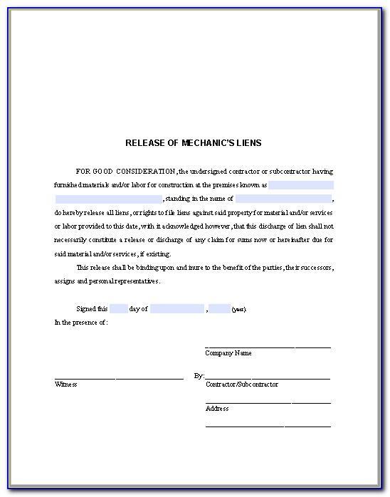Car Lien Release Letter Template