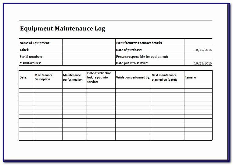 Cnc Machine Maintenance Checklist Format