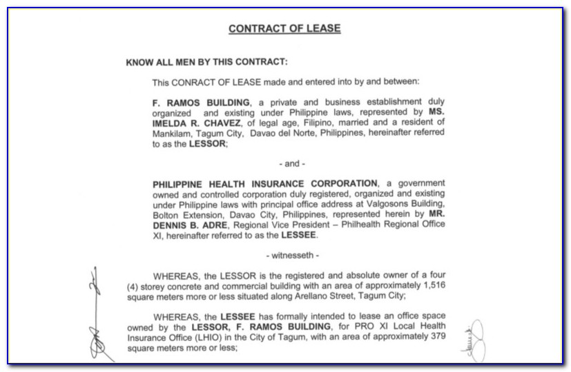 Commercial Lease Contract Sample Philippines