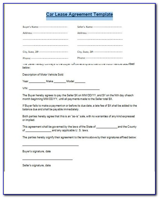 Commercial Lease To Purchase Contract Sample