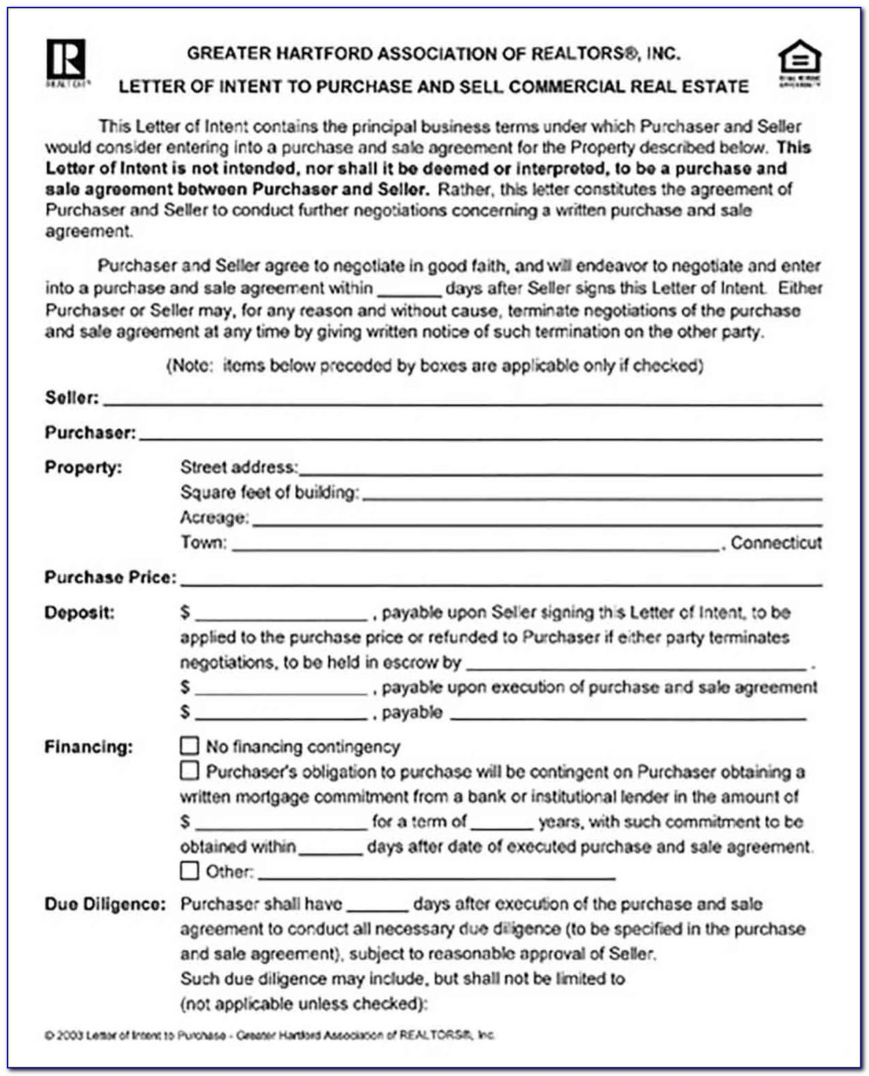 Commercial Real Estate Lease Letter Of Intent Template