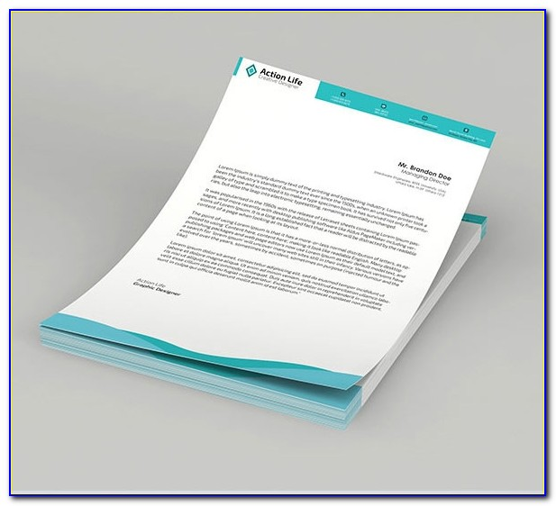 Company Letterhead Template Psd Free Download
