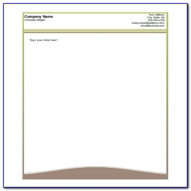 Construction Company Letterhead Template Free Download