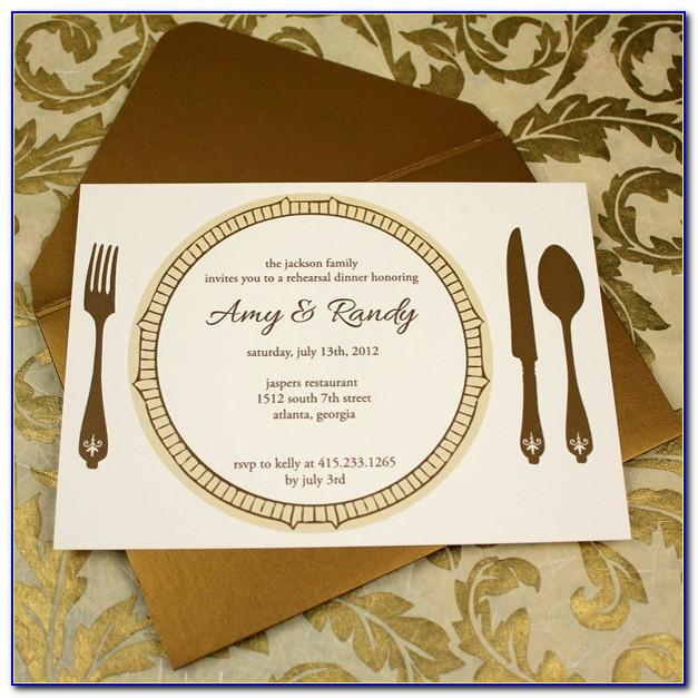 Dinner Invitation Template Wording