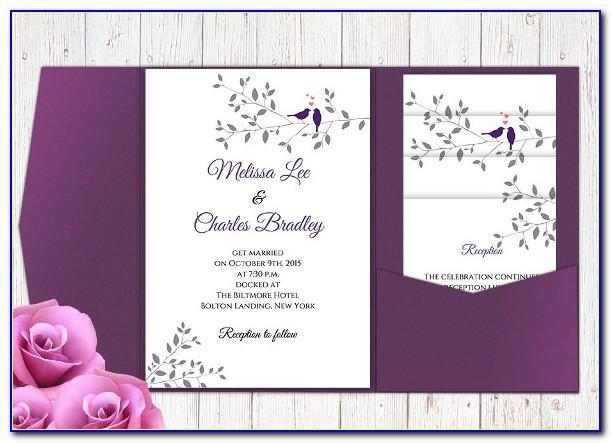 Diy Wedding Invitation Pocket Template