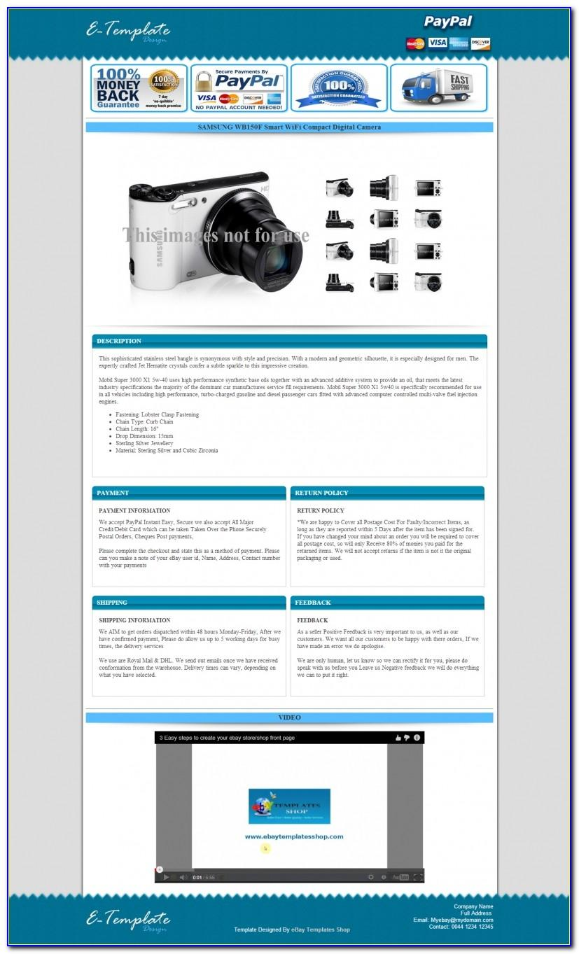 Ebay Listing Template Design Free