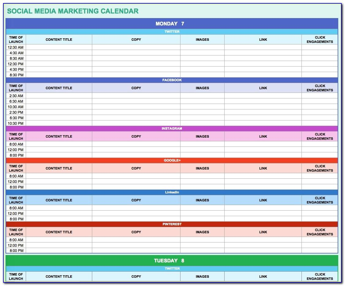 Email Marketing Calendar Template Excel