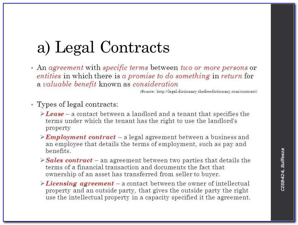 Examples Of Legally Binding Contract Terms At Work