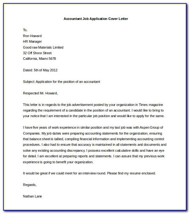 Executive Cover Letter Template Free