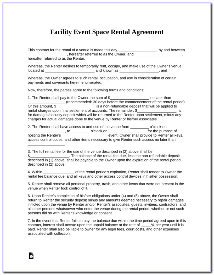 Florida Lease Agreement Word Document