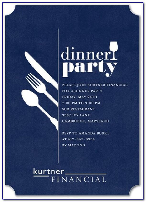 Formal Dinner Invitation Template Word