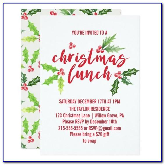 Formal Lunch Invitation Email Template
