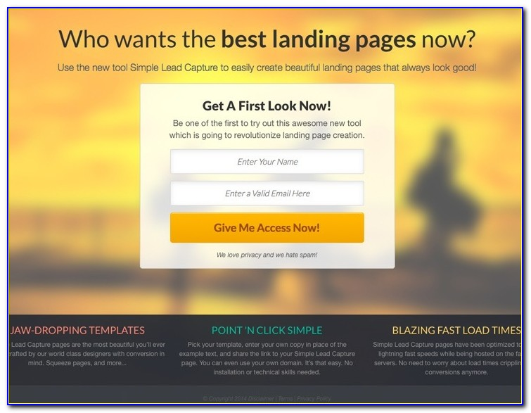 Free Html Lead Capture Page Templates