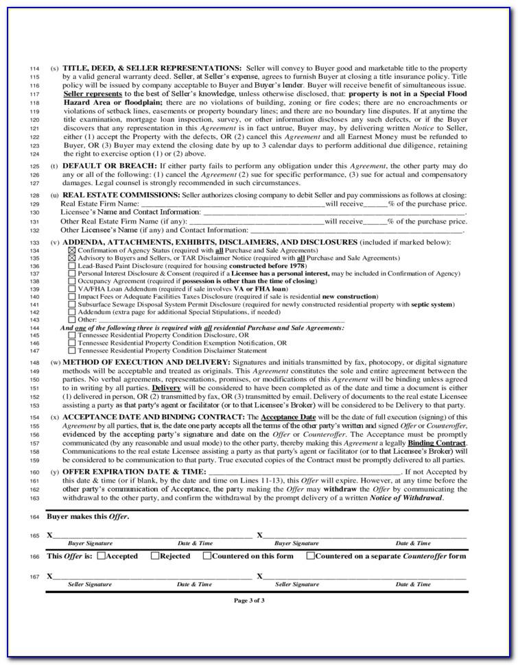 Free Land Contract Template Ohio