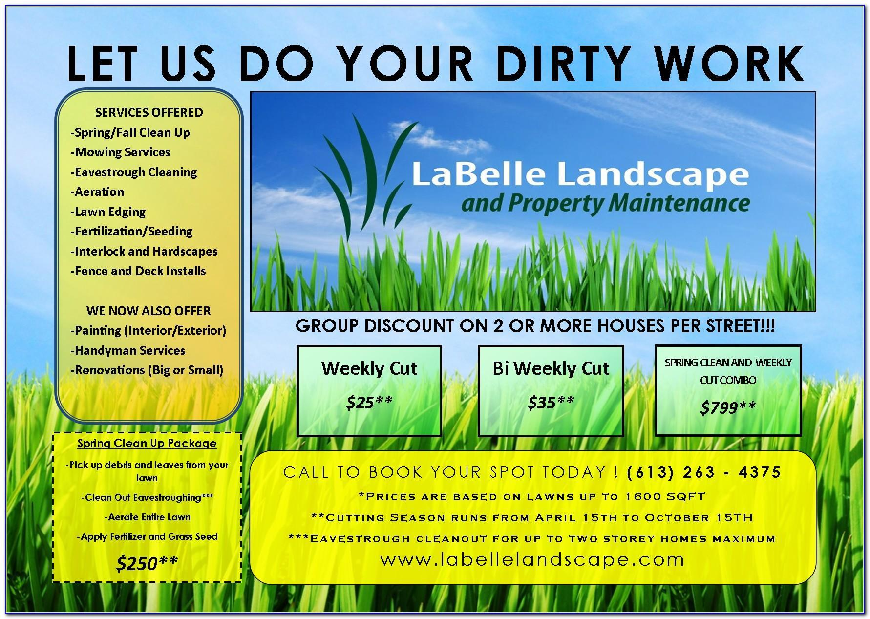 Free Landscaping Estimate Template Excel