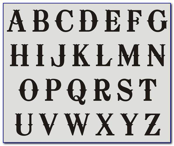 Free Large Letter Stencil Templates