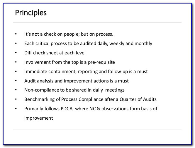 Free Layered Process Audit Checklist Excel