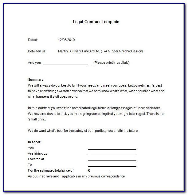 Free Legal Agreement Templates Uk