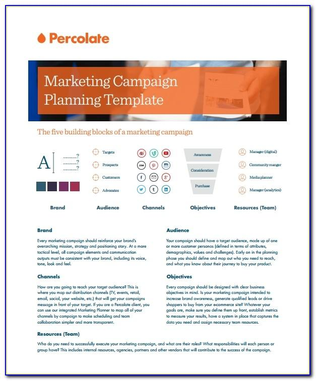 Free Marketing Campaign Planning Template