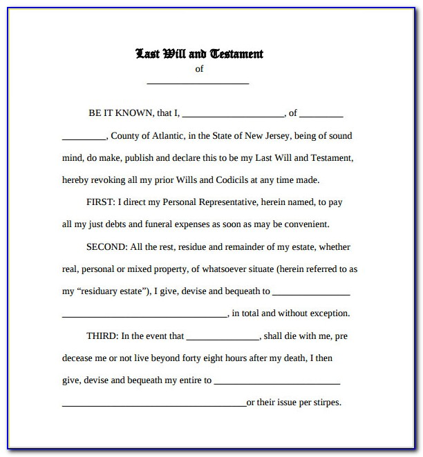 Free Printable Last Will And Testament Texas