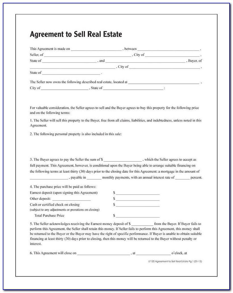 Free Real Estate Forms Land Contract