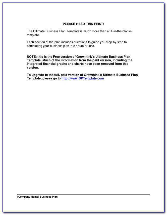 Growthink Marketing Plan Template Free Download