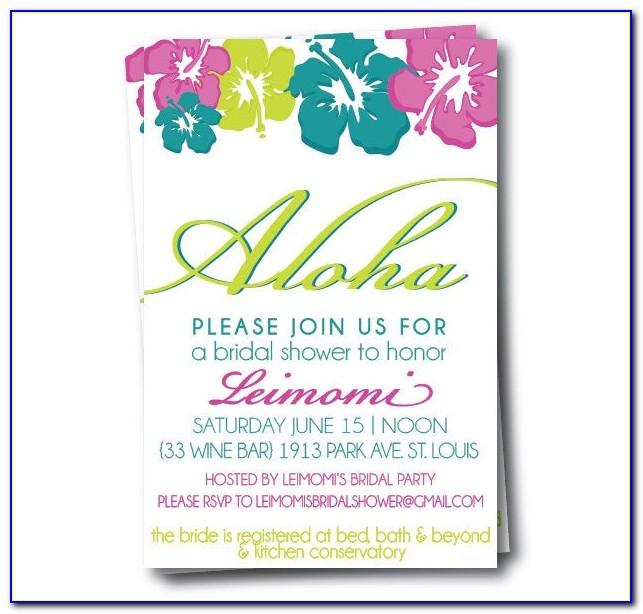 Hawaiian Invitation Template Free