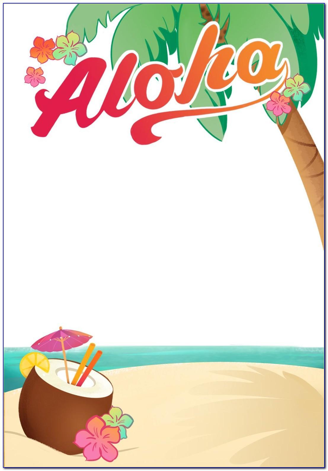 Hawaiian Themed Invitation Template