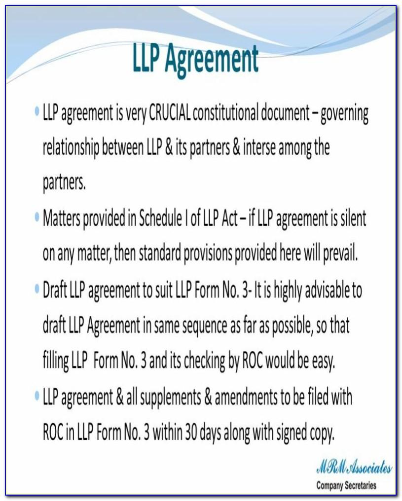 Initial Agreement In Llp Form 3