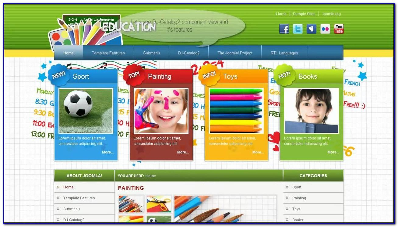 Joomla Education Templates Free Download