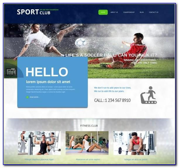Joomla Football Club Template