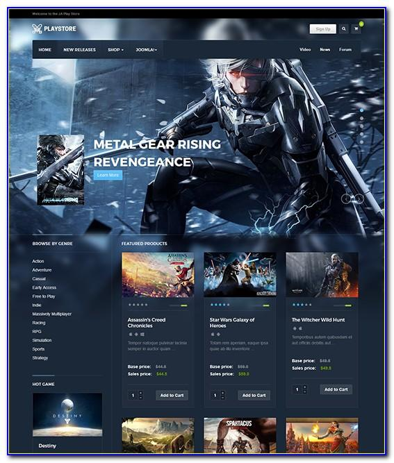 Joomla Gaming Templates Nulled