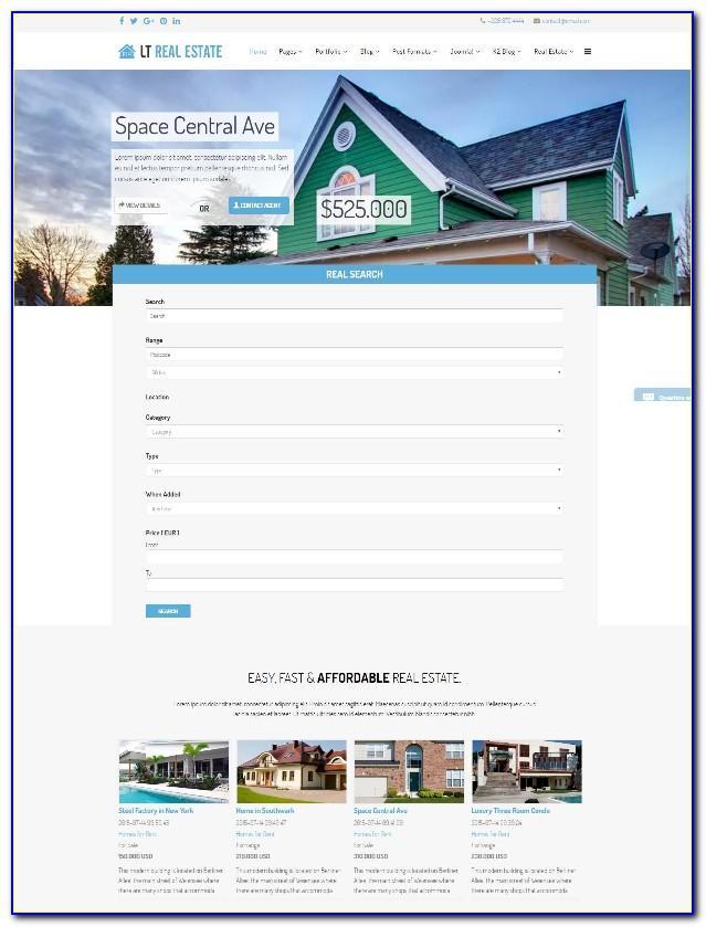 Joomla Real Estate Template Free