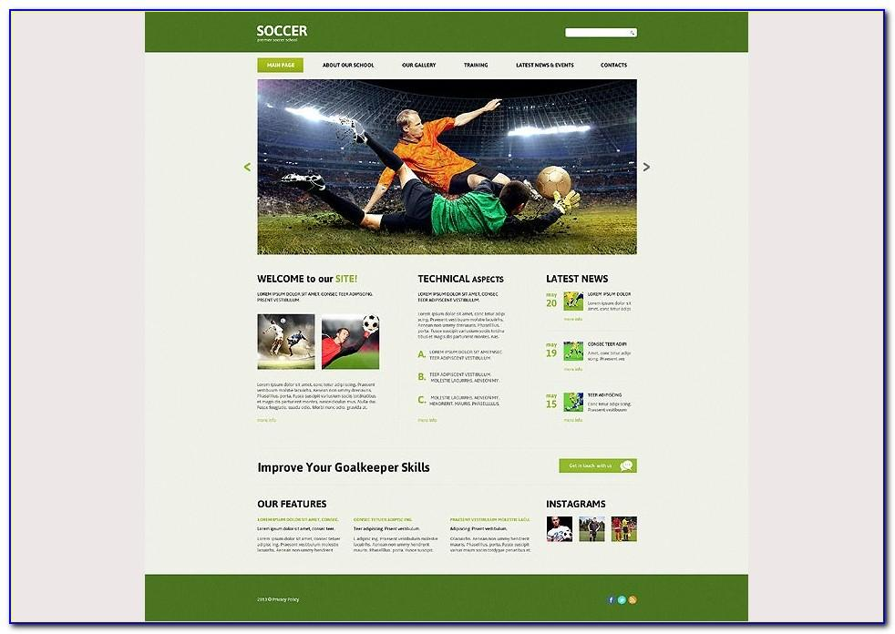 Joomla Sports Club Template