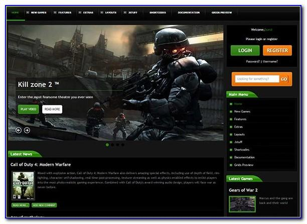 Joomla Template Game Free Download