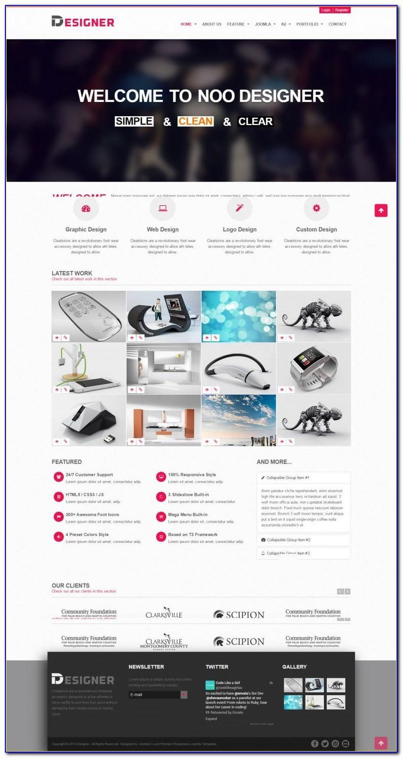 Joomla Templates Portfolio Design